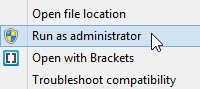 Blog 03072016 - Figure 3 - Run as administrator enables access to web libraries